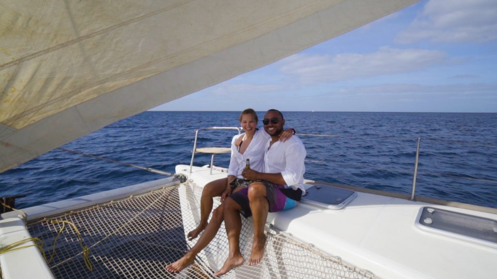 Enjoy a Catamaran trip as part of the top 5 things to do in Sal Cape Verde